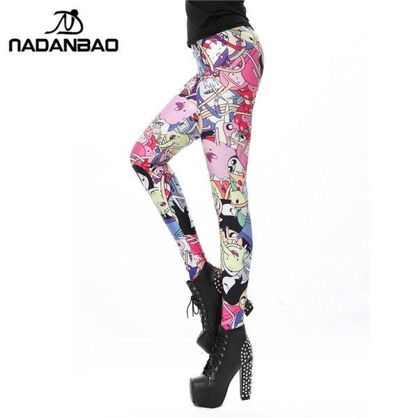 Compre Nadanbao Mujeres Legging 8 Patrón De Dibujos Animados ...