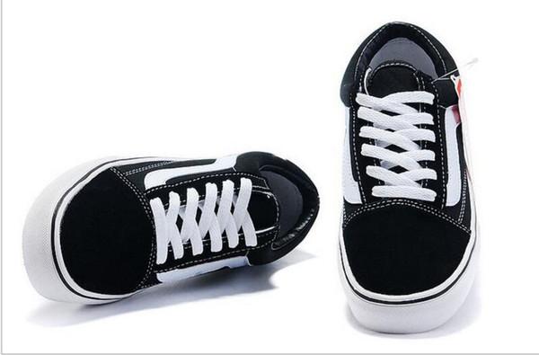2018 Casual Canvas Shoes Classic White Black Brand Mujeres y Hombres zapatillas de skate tamaño 35-44