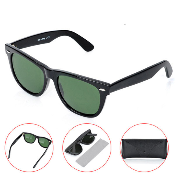 Hot sales UV400 protection sun glasses High Quality black Sunglasses glass Lens black Sunglasses Unisex beach 2140 Plank sunglasses