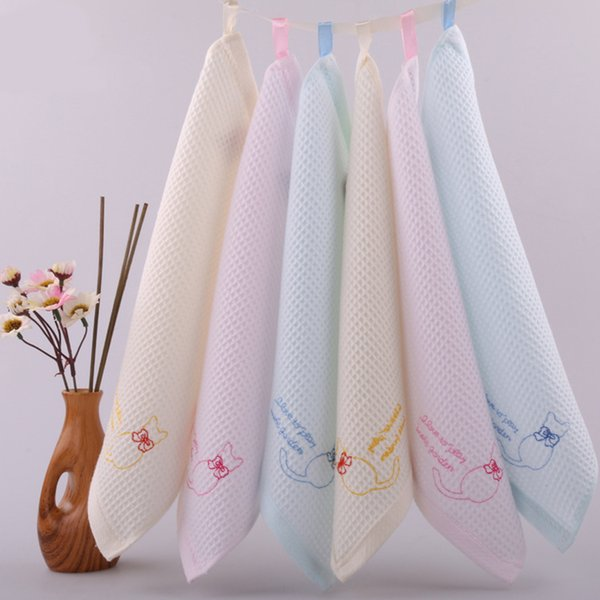 Muti-function super soft Cotton Gauze Face Towel Cat Patterns Towel Handkerchiefs 27*27cm