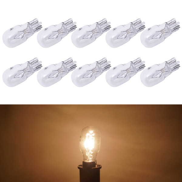 10pcs/box Warm White Car T13 Wedge 12V 10W Halogen Bulb External Halogen Lamp Replacement Dashboard Bulb Light #1309