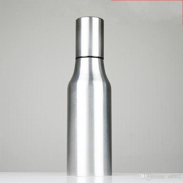 Thickened Oil Dispenser Bottle Stainless Steel Leak Proof Oils Pot Small With Cover Kitchen Tools Practical 16 5sh cc