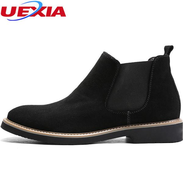 El yapımı Akın Lüks Stil Çizmeler Erkekler Süet Deri Ayakkabı Erkek PartyWedding Elbise Elastik Bant Tasarlanmış Ayakkabı Erkek Botas