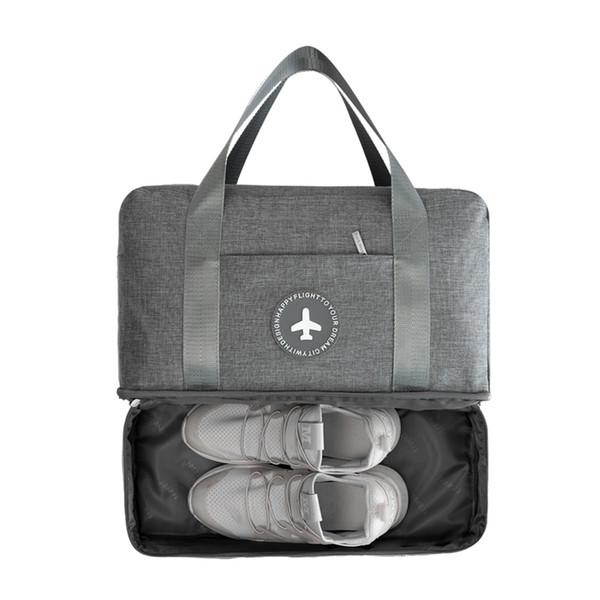 Homens Camada Dupla Saco de Viagem Seco e Molhado Pacote de Separação Saco de Praia Mulheres Embalagem Cubos Roupas Sapatos Duffle Bolsa Bolsa Novo