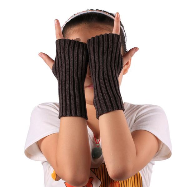 Women Gloves Stylish Hand Warmer Winter Gloves Arm Crochet Knitting Faux Wool Mitten Warm Fingerless Guantes Mujer #L15