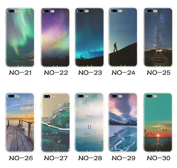 Landscape Painting Soft TPU Elizabeth Tower Big Ben Eiffel Silicone Colorful Drawing Case Cover For iPhone XS Max XR X 8 7 Plus 6 6S 5 5S