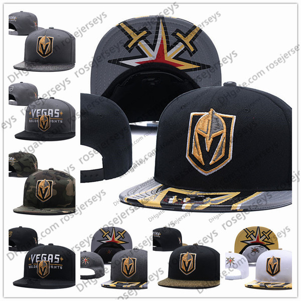 bfc7bf166f7075 Vegas Golden Knights Ice Hockey Knit Beanies Embroidery Adjustable Hat  Embroidered Snapback Caps Black Gray White
