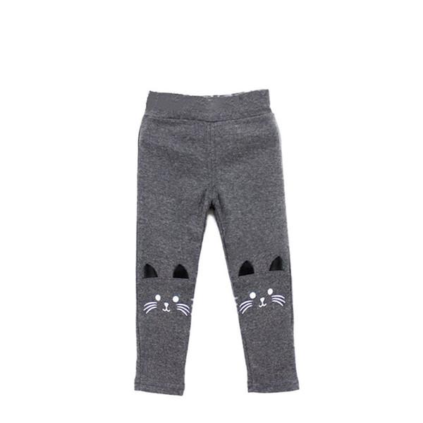 Cute Toddler Baby Girls Kids Skinny Pants Cat Print Stretchy Warm Leggings