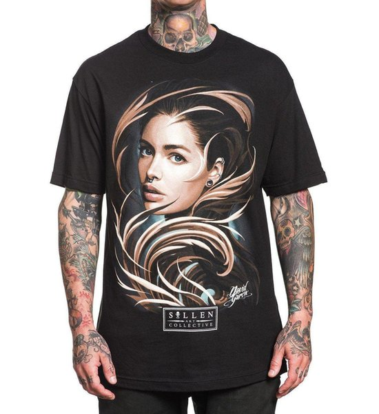 Sullen Men's Legend T Shirt Negro David Garcia Top Tee Ropa Ropa