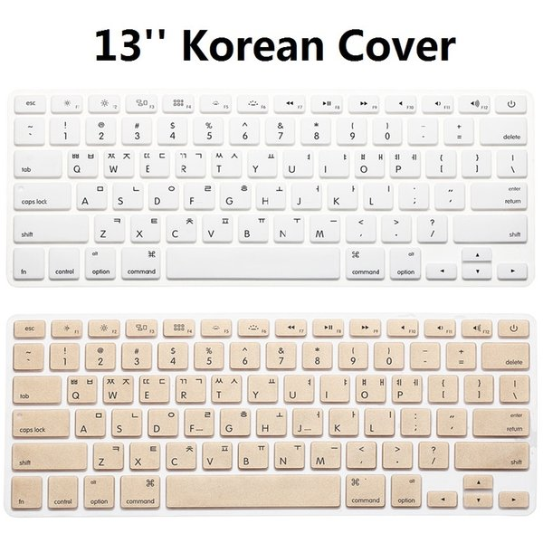 1pcs US KR Korean Keyboard Cover For Macbook Air Pro Retina 13 15 Silicone Computer Protector Skin Cover For iMac