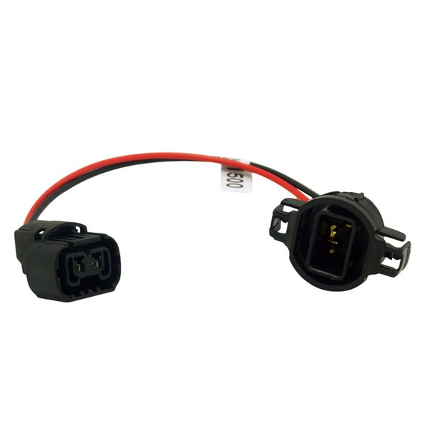 2pcs Car H16/5202/2504/PSX24W Extension Wiring Harness Female/Male Sockets Connector For Fog Headlights Wiring Retrofit #1500