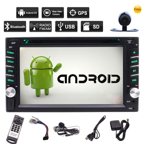 Android 6.0 Car Stereo Rear Camera+6.2'' Capacitive Touch Screen Car DVD CD Player GPS Navigation Wifi Bluetooth OBD2 DVR Mirror Link