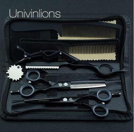 "5.5"" black teflon hair scissors razor hairdressing scissor sale professional hair dressing scissors barber clipper japan haircut"