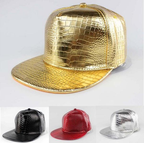 Mens Hip Hop Snapback Baseball Hats Adjustable Fashion Flat Brim Gold Fitted Baseball Cap Party Hats Unisex