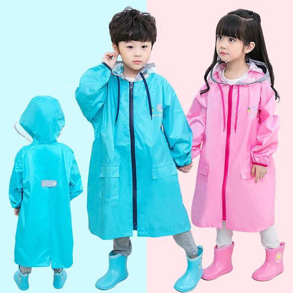 Wholesale children's raincoat, baby child primary school boys and girls kindergarten raincoat, reflective strip raincoat,4 color