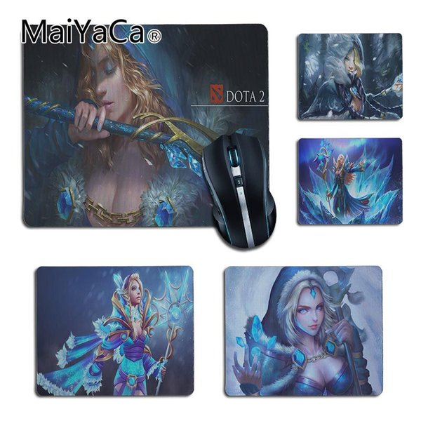 MaiYaCa Cool New Crystal Maiden dota2 Customized laptop Gaming small mouse pad Gaming Player desk laptop Rubber Mouse Mat