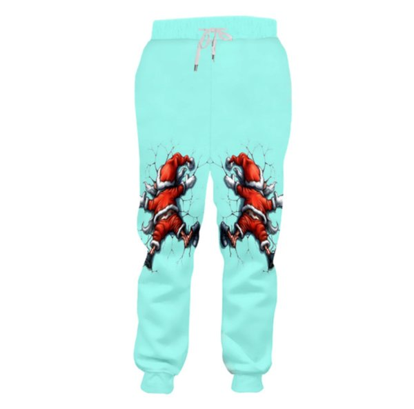 New style Fashion Santa Claus 3d Printing Mens/Womens casual joggers pants y05