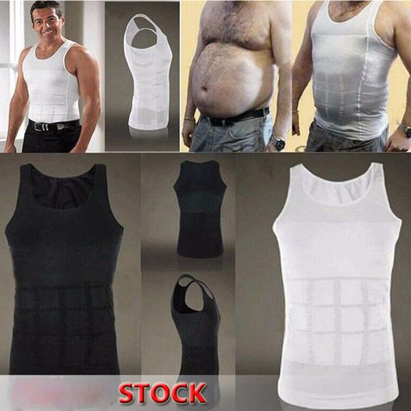Uomini che dimagriscono Body Shaper Tummy Shaper Vest che dimagrisce Biancheria intima Corsetto Vita Muscle Girdle Shirt Fat Burn
