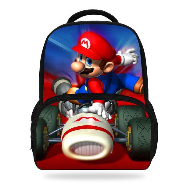 14inch Hot Sale Children Printing Bag Cartoon Super Mario Backpack For Kids School Boys Girls Teenagers Y18110107