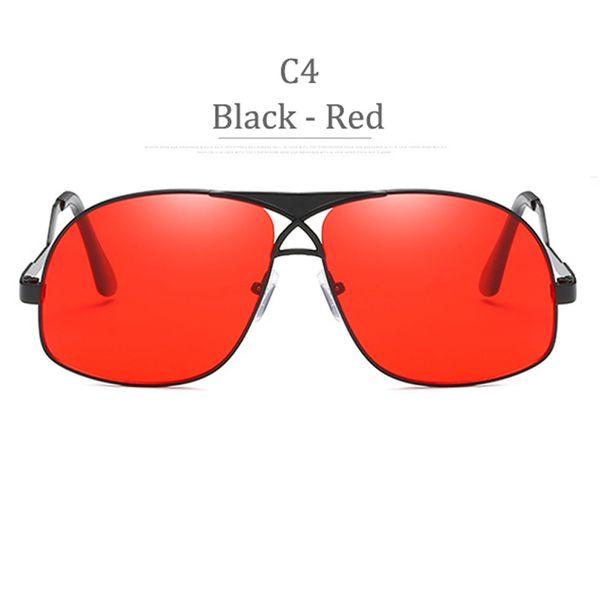 Lente rossa con montatura nera C4