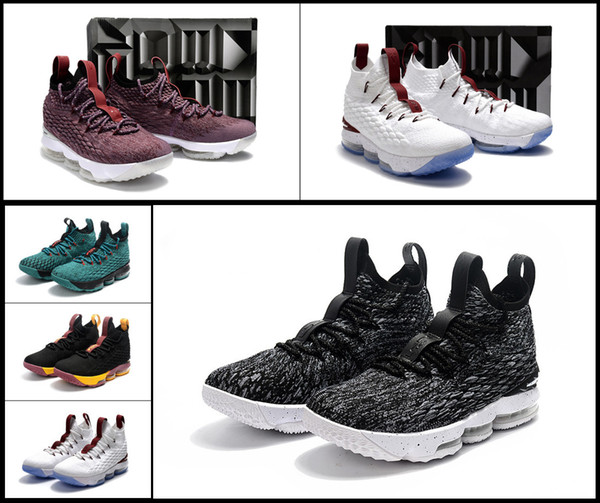 buy popular e0381 9a74b 2018 2018 New Lebron 15 Cheap Lebrons 15s Outdoors Shoes Yellow Red Grey  Mens Ashes Cavs Team Color Equality Sneakers 23 James Size 7 12 From  Near330, ...