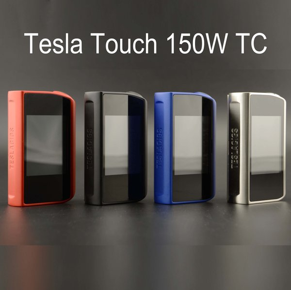 Tesla Touch 150W TC Box Mod Vape Mods with Touch Screen 12 Volts Maximum Output TCR VW Mode Powered by Dual 18650 Batteries