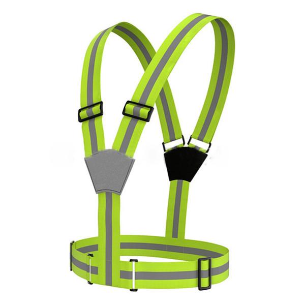 1 pcs Unisex Cycling Fluorescent Vest Bicycle Safety Vest Adjustable Outdoor Safety Visibility Reflective Vest Gear Stripes