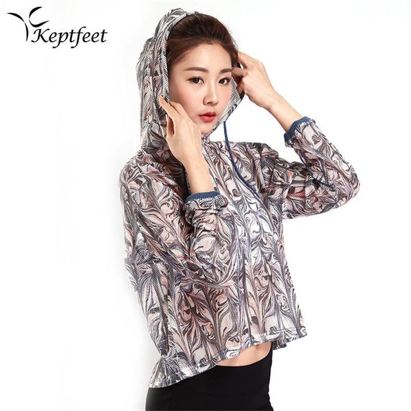 2017 New Running Sport Jackets Women Soft Long Sleeves Breathable Quick Dry Gym Fitness Athletic Top Female Yoga Jackets T-shirt