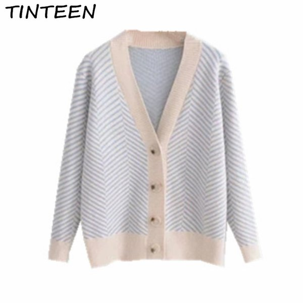 TINTEEN 2018 Spring Autumn Wool Sweater For Women V neck With Button Cardigan Fashion Elegant Female Small shawl Jacket GC296