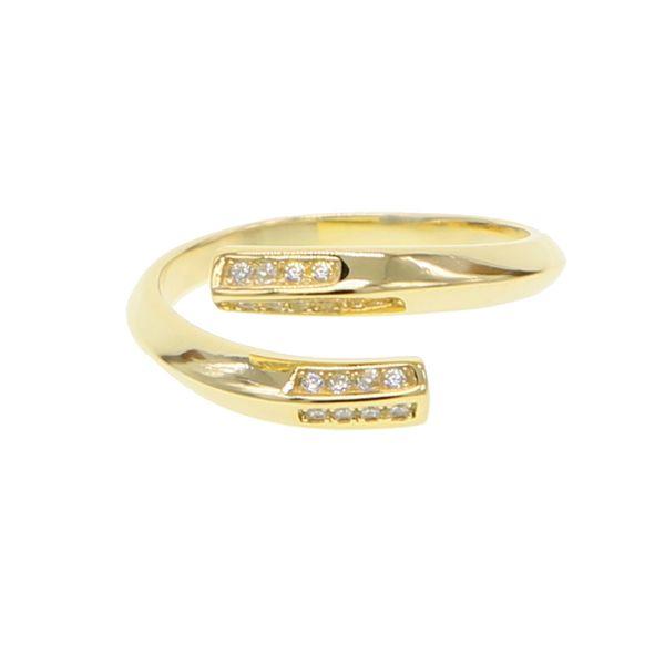 2018 New Fashion Simple Minimal 925 Silver Jewelry Design Open