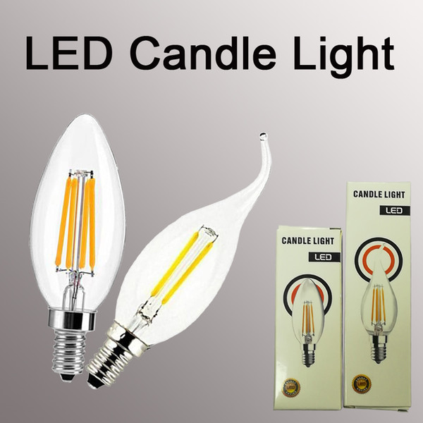 Filament candle bulb E14 2/4/6W Edison COB Filament Retro LED Light Candle/Flame Bulb Lamp