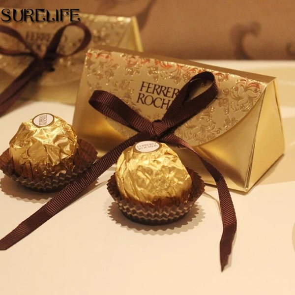 best selling Wedding Favors and Gifts Baby Shower Paper Candy Box Ferrero Rocher Boxes Wedding Favors Sweet Gifts Bags Supplies