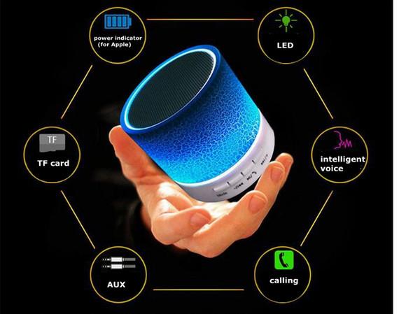 Mini haut-parleur bluetooth Portable Subwoofer audio sans fil main / stéréo HIFI Player avec ports USB / AUX Noël / anniversaire / cadeau de camping grand LW01
