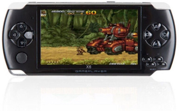 X6 4.3 Inch Handheld Game Console Portable Video Game Player 8GB(Black)