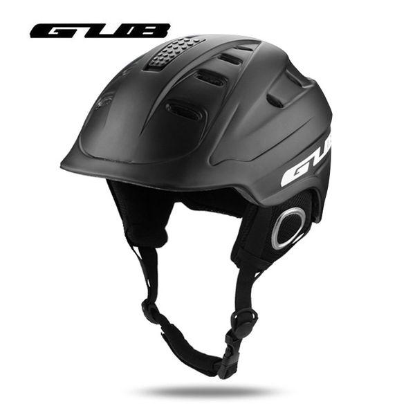 GUB Integrally-molded Snowboard Ski Helmet Men Women Winter Safety Skiing Helmet Vents switch for outdoor Sport Skiing Cycling