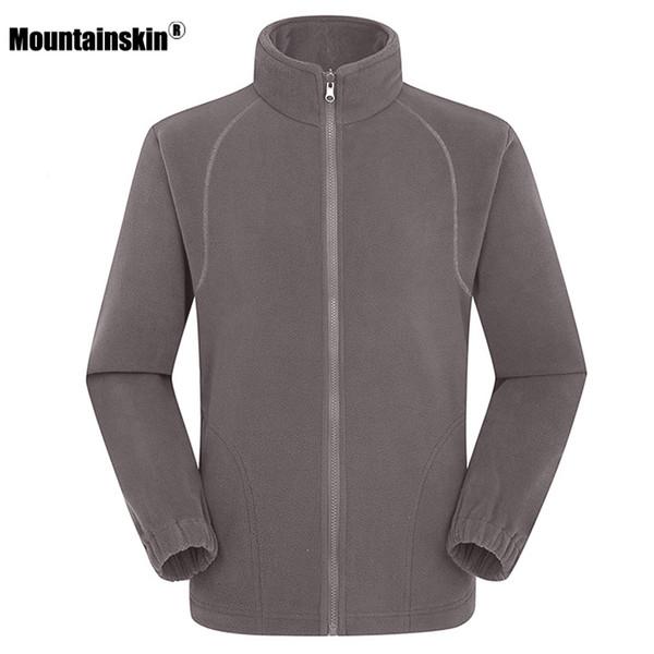 Mountainskin Men's Women's Winter Fleece Softshell Jackets Outdoor Sport Thermal Hiking Camping Climbing Female Male Coats VA203 Y1893006