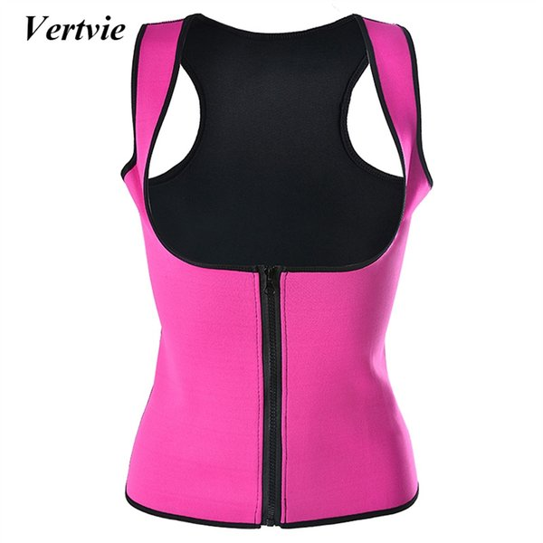 Vertvie Women Vest Neoprene Corset Corpete Zipper Hot Shaper Body Waist Support Workout Sauna Suit Waist Cincher Trainer