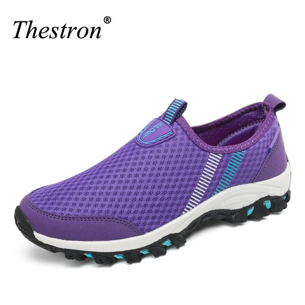 2018 chaussures de marche en plein air femme mesh respirant chaussures de randonnée printemps été violet chaussures de randonnée chaussures de montagne escalade