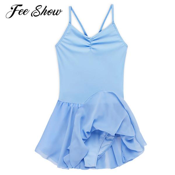 Kids Girls Ballet Tutu Dress Gymnastics Leotard Professional Tutu Ballet Dancer Costumes Girls Dance Leotard Dress