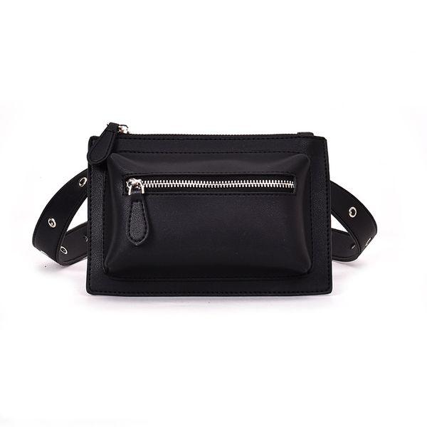 Classic PU Bum Bag Small Phone Waist Bag Fashion Leather Designer Waist Pack Working Belt Bag Wallet Money Travel Pouch