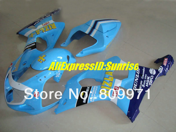 S674 NEW RIZLA blue full Fairing for SUZUKI GSXR1000 2000 2001 2002 GSX-R1000 00-02 GSXR1000 K2 00 01 02