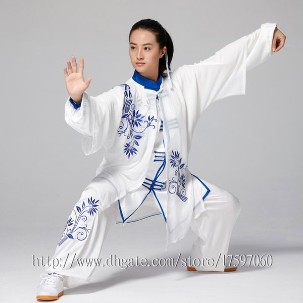 top popular Chinese Tai chi garment Kungfu uniform taiji suit Qigong performance outfit embroidery clothes for women men girl boy children adults kids 2020