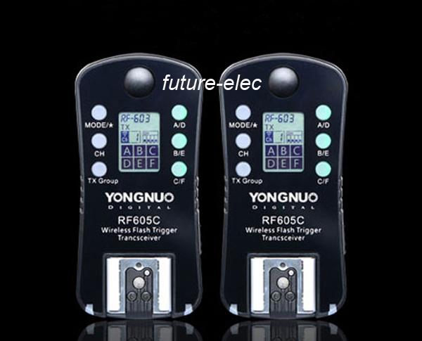 YongNuo Upgraded RF-605=RF-603+RF-602 Wireless Remote Flashes Trigger Shutter Release Transmitter RF-605C for  DSLR Camera