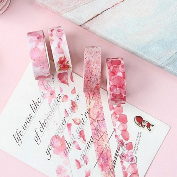 top popular 2018 New Pink Memories Kawaii Flower Animals Decorative Washi Tape DIY Scrapbooking Masking Tape School Office Supply 2016 2021