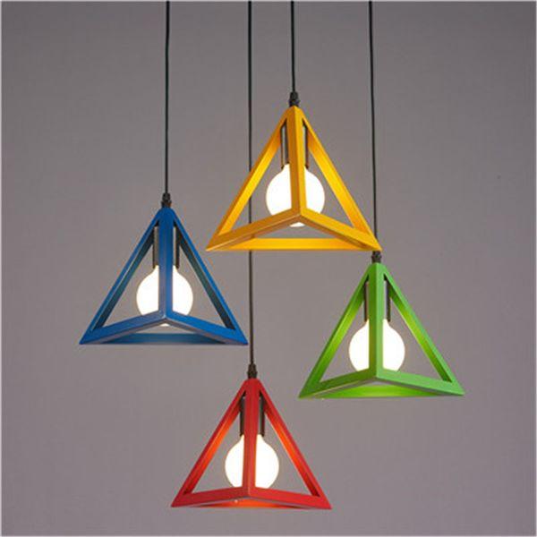 Nordic restaurant lights three creative clothing shop window bar bedroom single head small hanging lamps