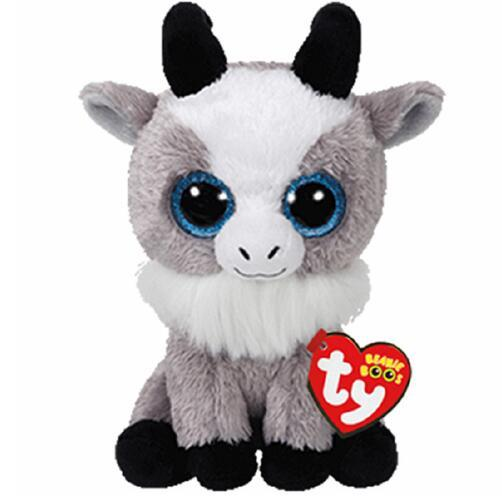 "Ty Beanie Boos 6"" 15cm Gabby the Goat Plush Regular Soft Big-eyed Stuffed Animal Collection Doll Toy"