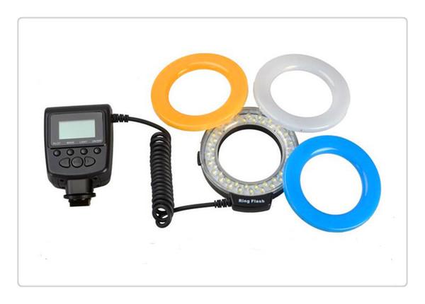 New Travor 48 Macro LED Ring Flash Adapter RF- 550D Nikon Canon Olympus DSLR Camera