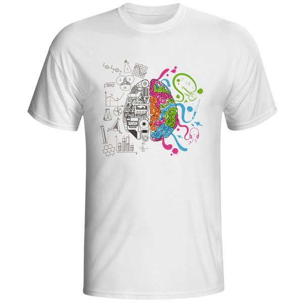 Left And Right Brain T Shirt Design Inspired By Geek T-shirt Style Cool Fashion Casual Novelty Funny Tshirt Men Women Tee