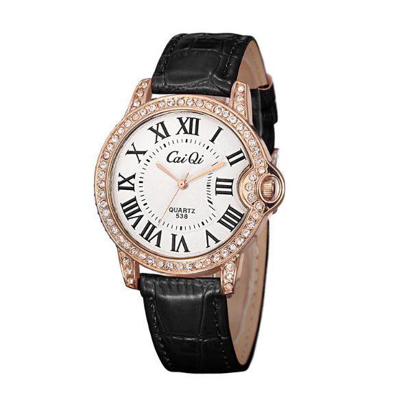 Versione coreana di orologi in pelle nuovo classico retrò trapano orologi femminili, studente orologi da tavolo di moda