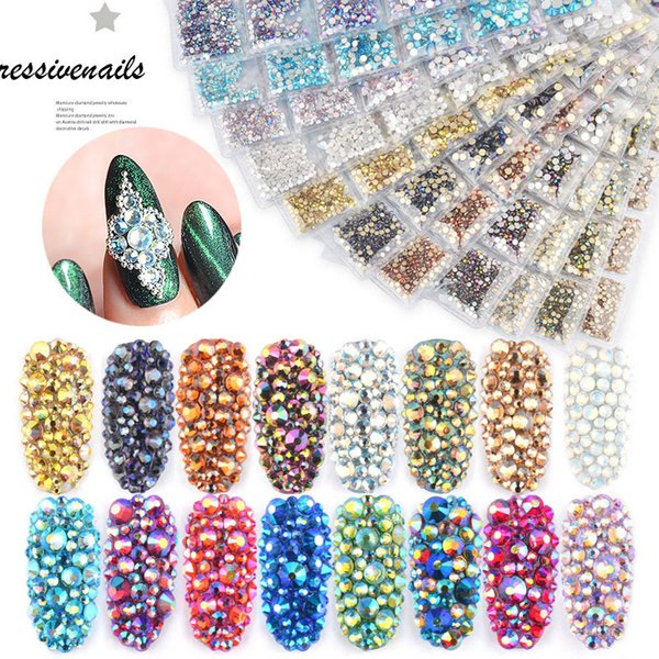 Misscheering Nail Art Pedrinhas Glitter Diamante De Cristal Gems 3D Dicas DIY nail art Decorações acessórios